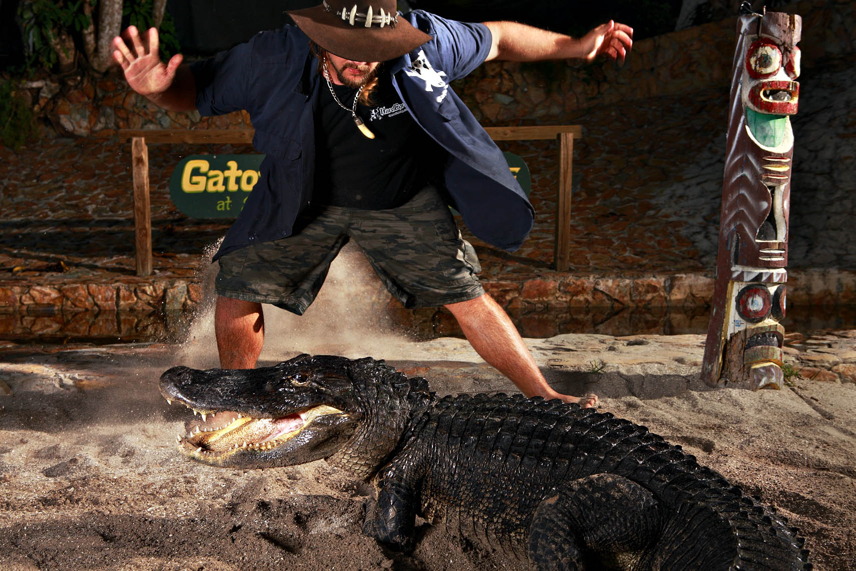 Miami photographer Bob Croslin photographs Gator Boys Jimmy Riffle weird Florida
