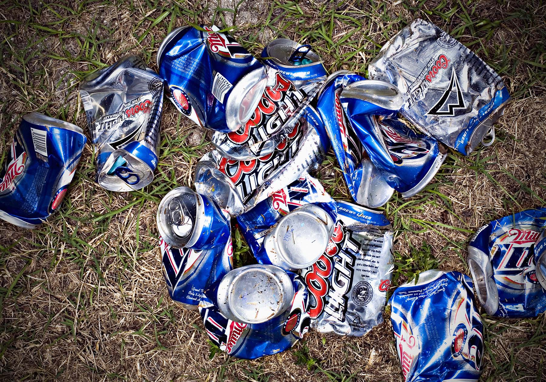 central florida editorial photographer Bob Croslin beer cans